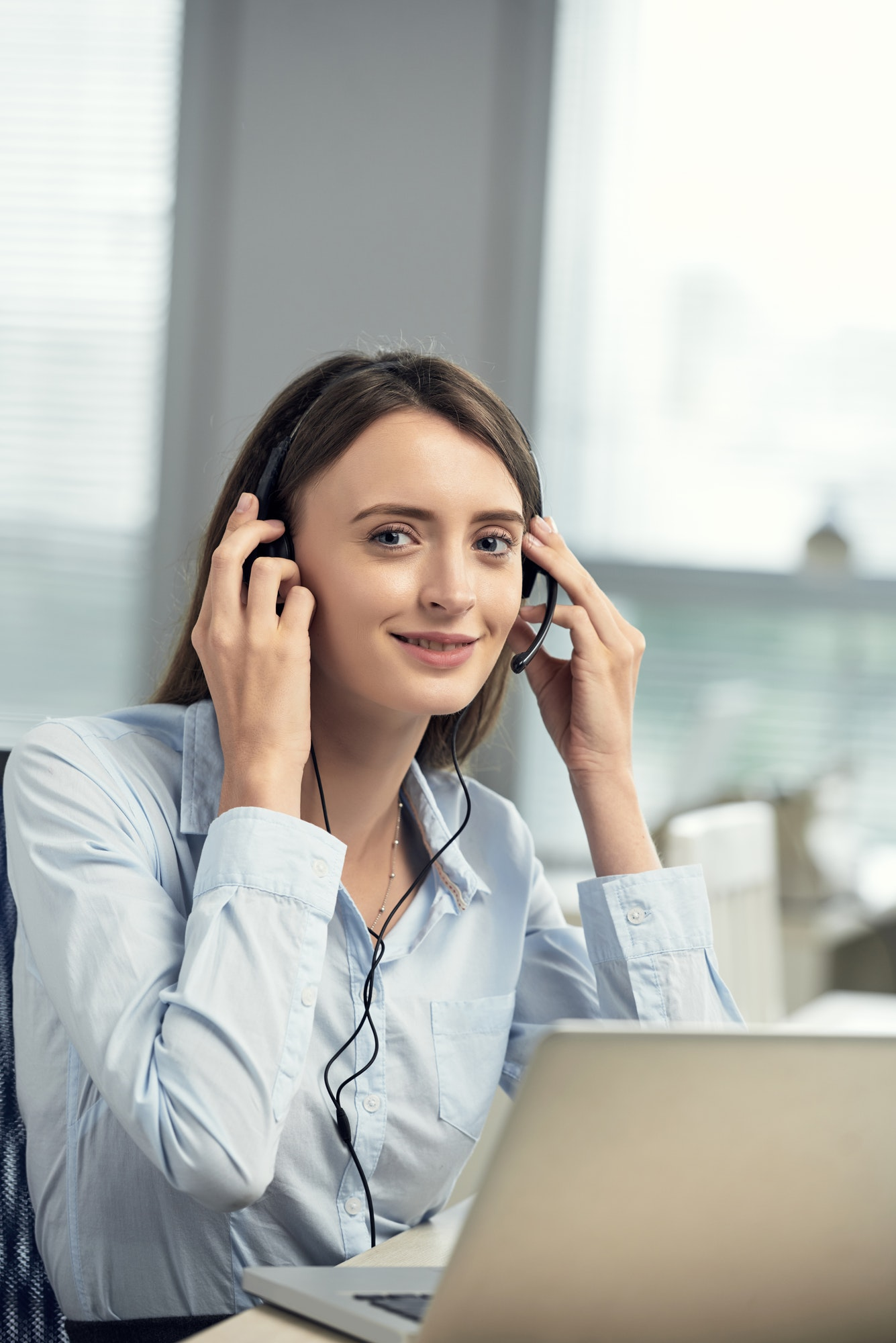 Business lady working in office