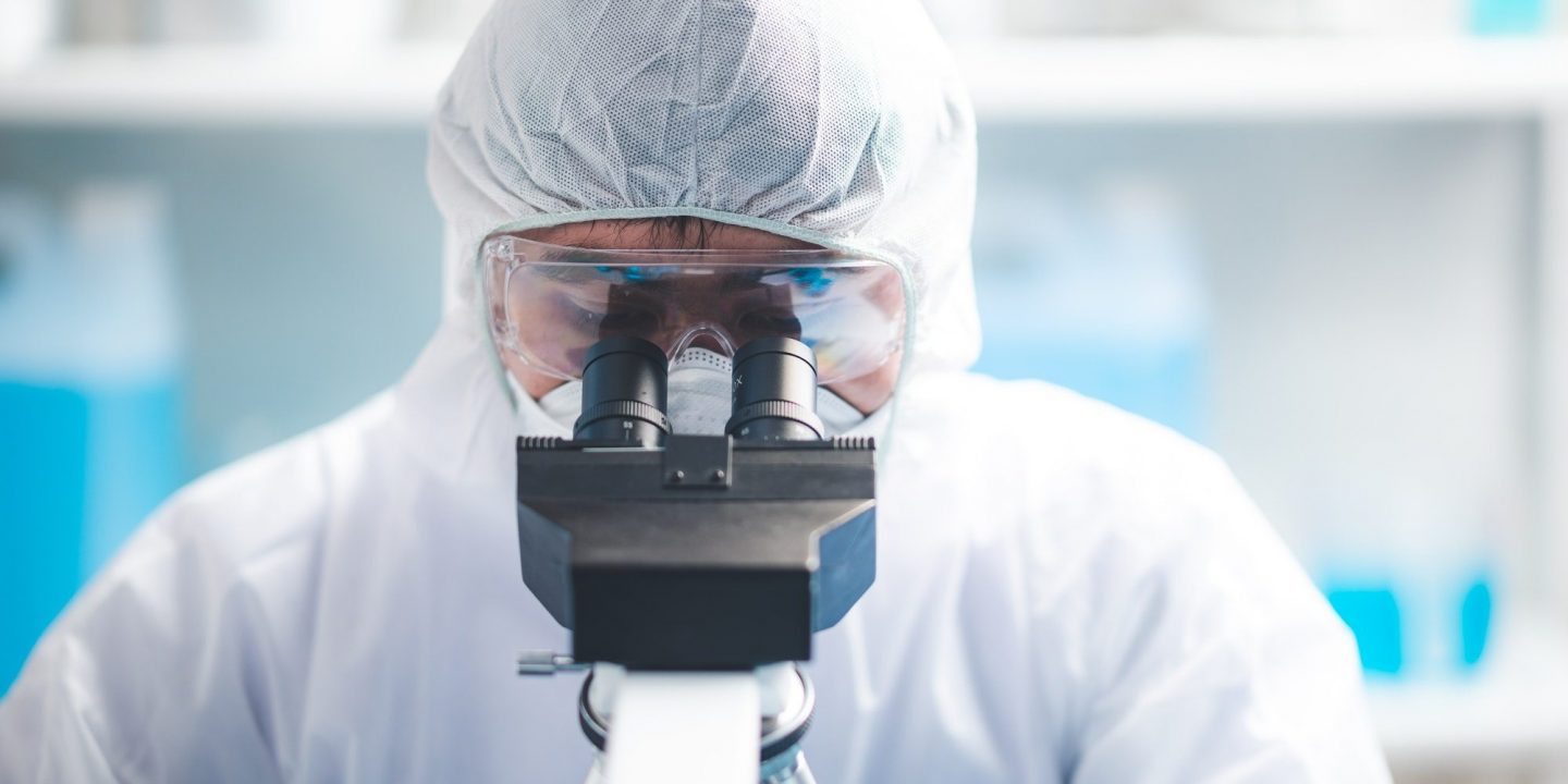 Health care researchers working in life science laboratory, medical science