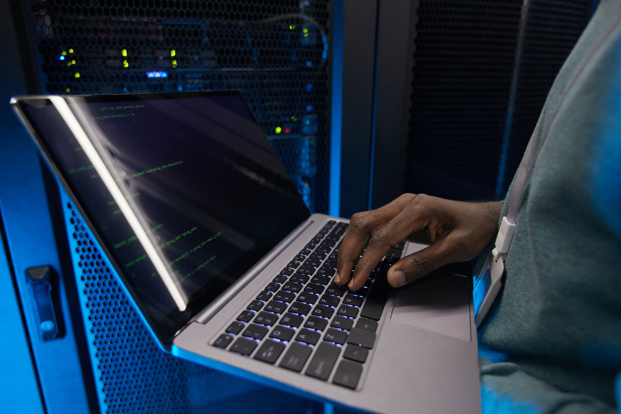 IT Engineer Setting Up Server