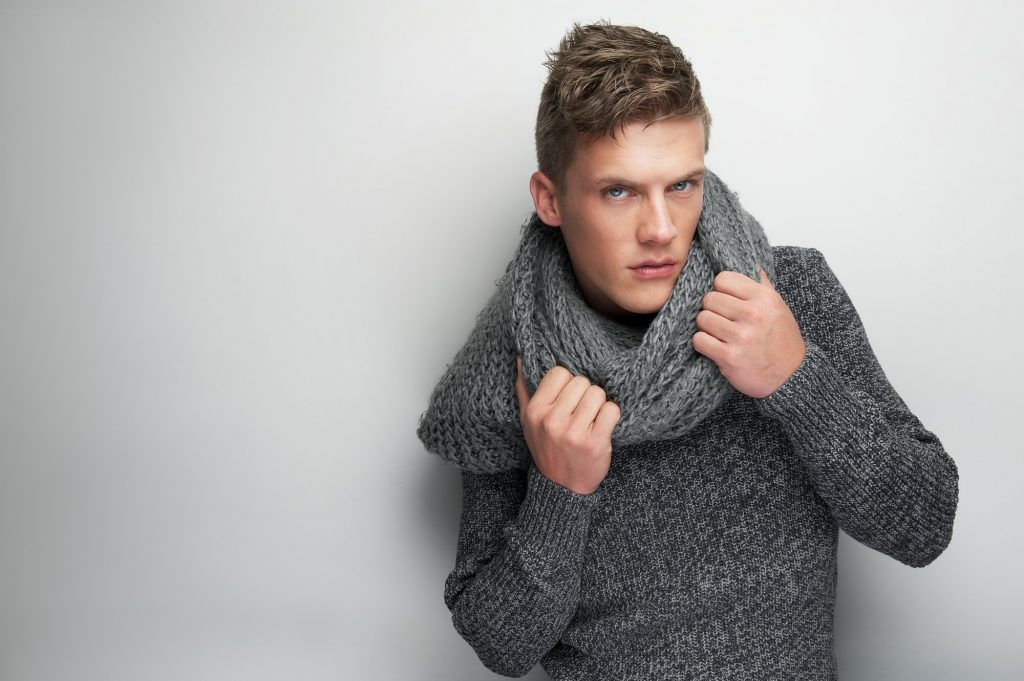 Fashion Model and Scarf