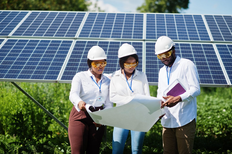Africa solar energy concept