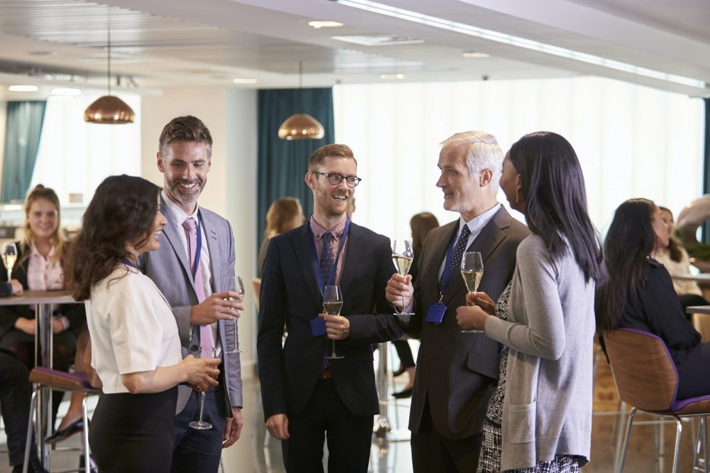Delegates Networking At Conference Drinks Reception