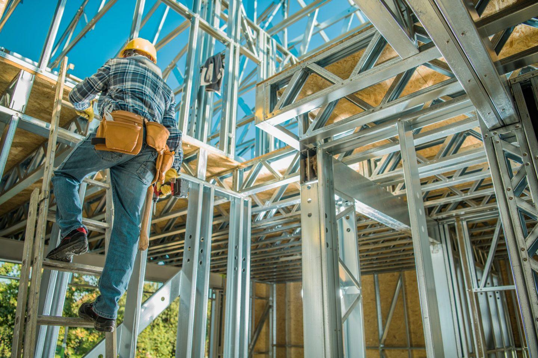 Caucasian Steel Frame Worker