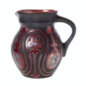 side view of georgian ceramic jugful isolated