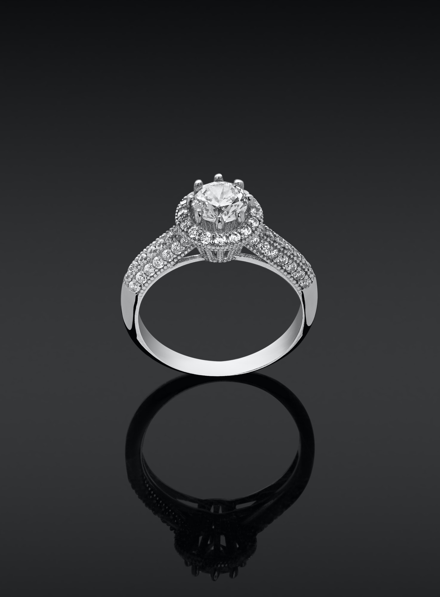 women ring with diamonds