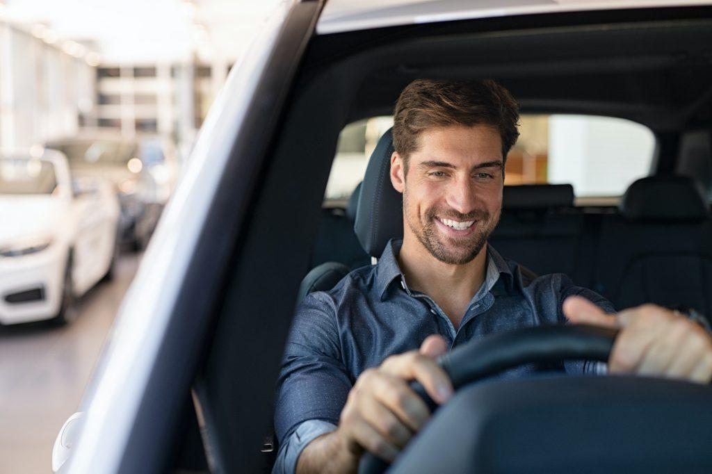 Drive test at car dealership