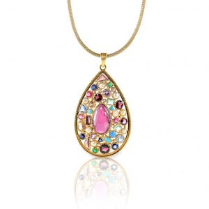 Multiple Gemstone Pendant Necklace