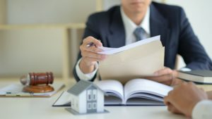 The lawyer is currently providing legal advice on real estate trading.
