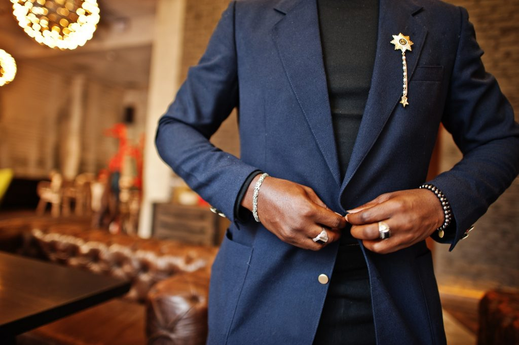Fashionable african american man in suit