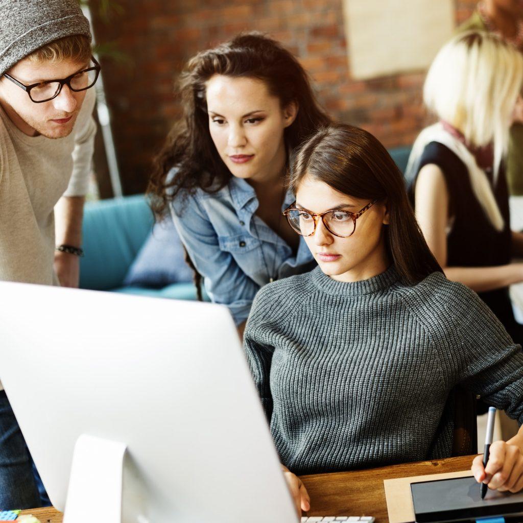 People Corporate Teamwork Brainstorming Working Concept